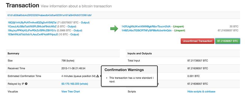 bitcoin list all transactions
